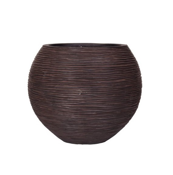 КАШПО CAPI NATURE VASE BALL RIB BROWN