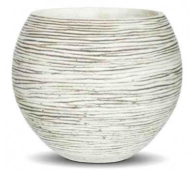 КАШПО CAPI NATURE VASE BALL MINI RIB IVORY