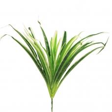Хлорофитум куст искусственный зелено-белый 25 см
