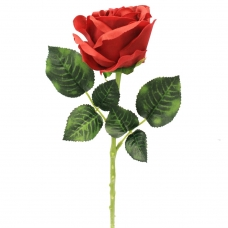 Роза искусственная бордовая 57 см