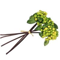 Пучок Ягод искусственных зеленых 30 см