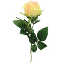 Роза искусственная кремово-розовая 68 см