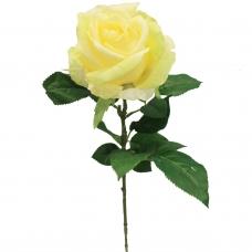 Роза искусственная желтая 68 см