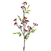 Ветка с красными ягодами искусственная 86 см