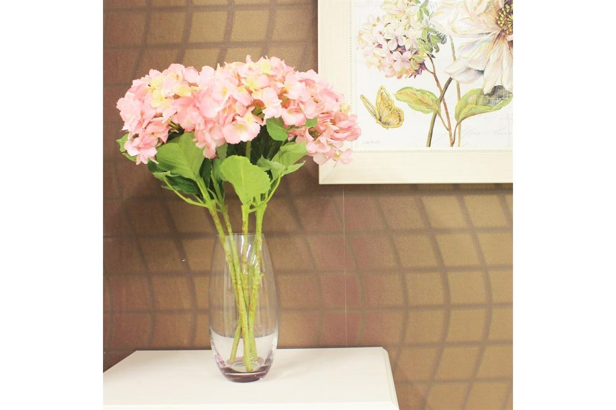 Гортензия искусственная ярко-розовая 34 см - Фото 2