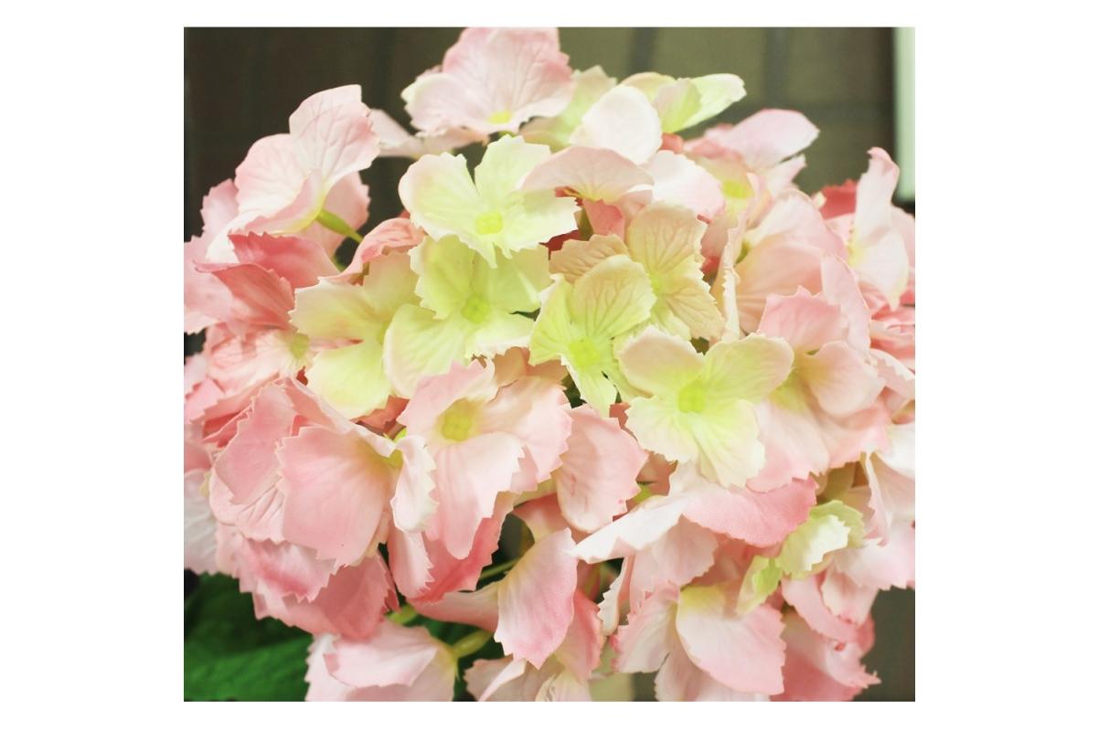 Гортензия искусственная ярко-розовая 34 см - Фото 3