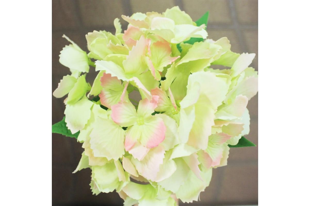 Гортензия искусственная зеленая 34 см - Фото 3