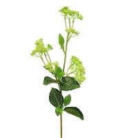 Ветка Бузины искусственная зеленая 63 см