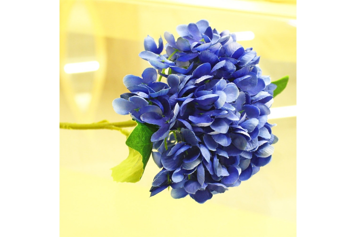 Гортензия искусственная синяя 35 см - Фото 3