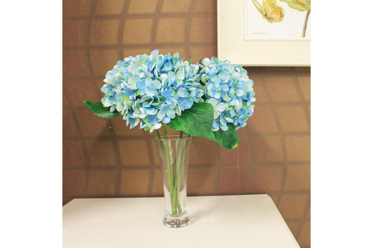 Гортензия искусственная голубая 35 см - Фото 2