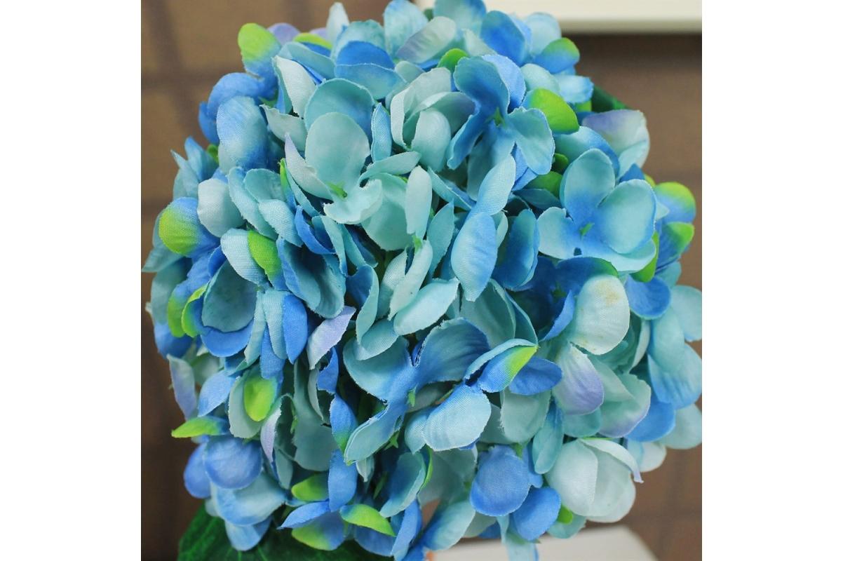Гортензия искусственная голубая 35 см - Фото 3