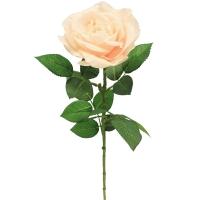 Роза искусственная светло-розовая 67 см