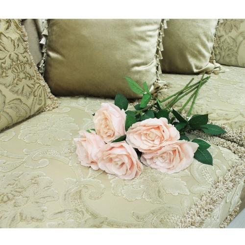 Роза искусственная светло-розовая 67 см - Фото 2