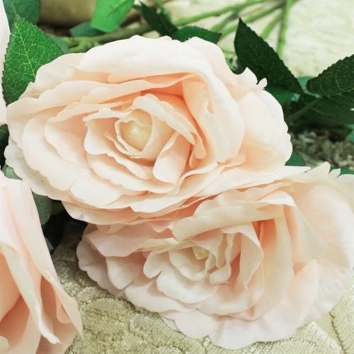 Роза искусственная светло-розовая 67 см - Фото 3