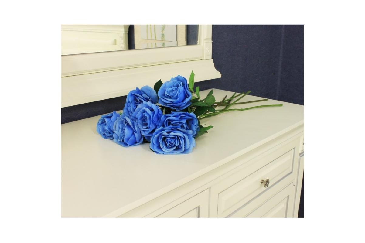 Роза искусственная голубая 67 см - Фото 2
