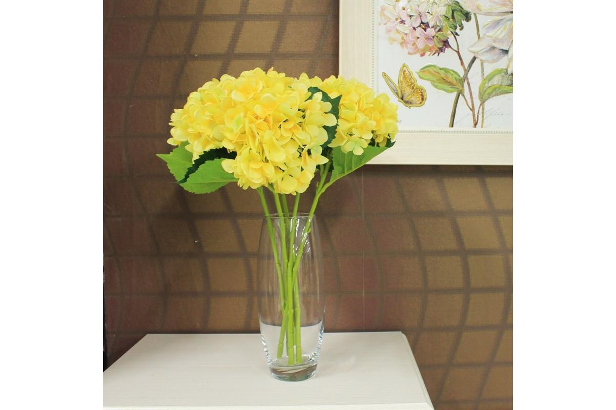 Гортензия искусственная желтая 47 см - Фото 2
