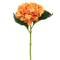 Гортензия искусственная оранжевая 47 см