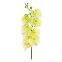 Орхидея Фаленопсис искусственная зеленая 90 см (real touch)