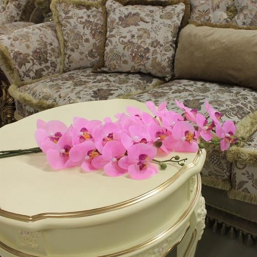 Орхидея Фаленопсис искусственная светло-розовая 88 см (real touch) - Фото 2