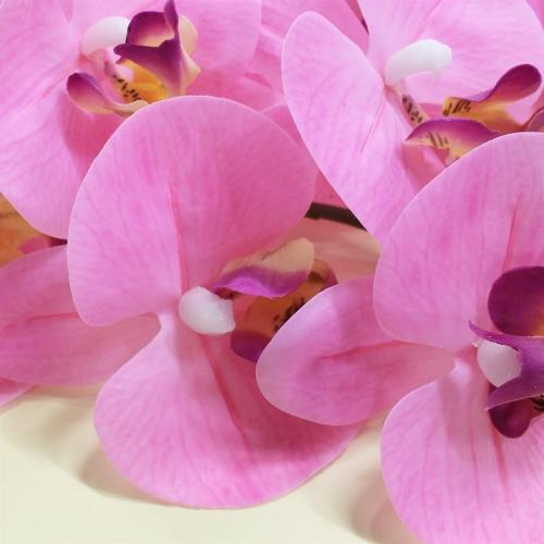 Орхидея Фаленопсис искусственная светло-розовая 88 см (real touch) - Фото 3