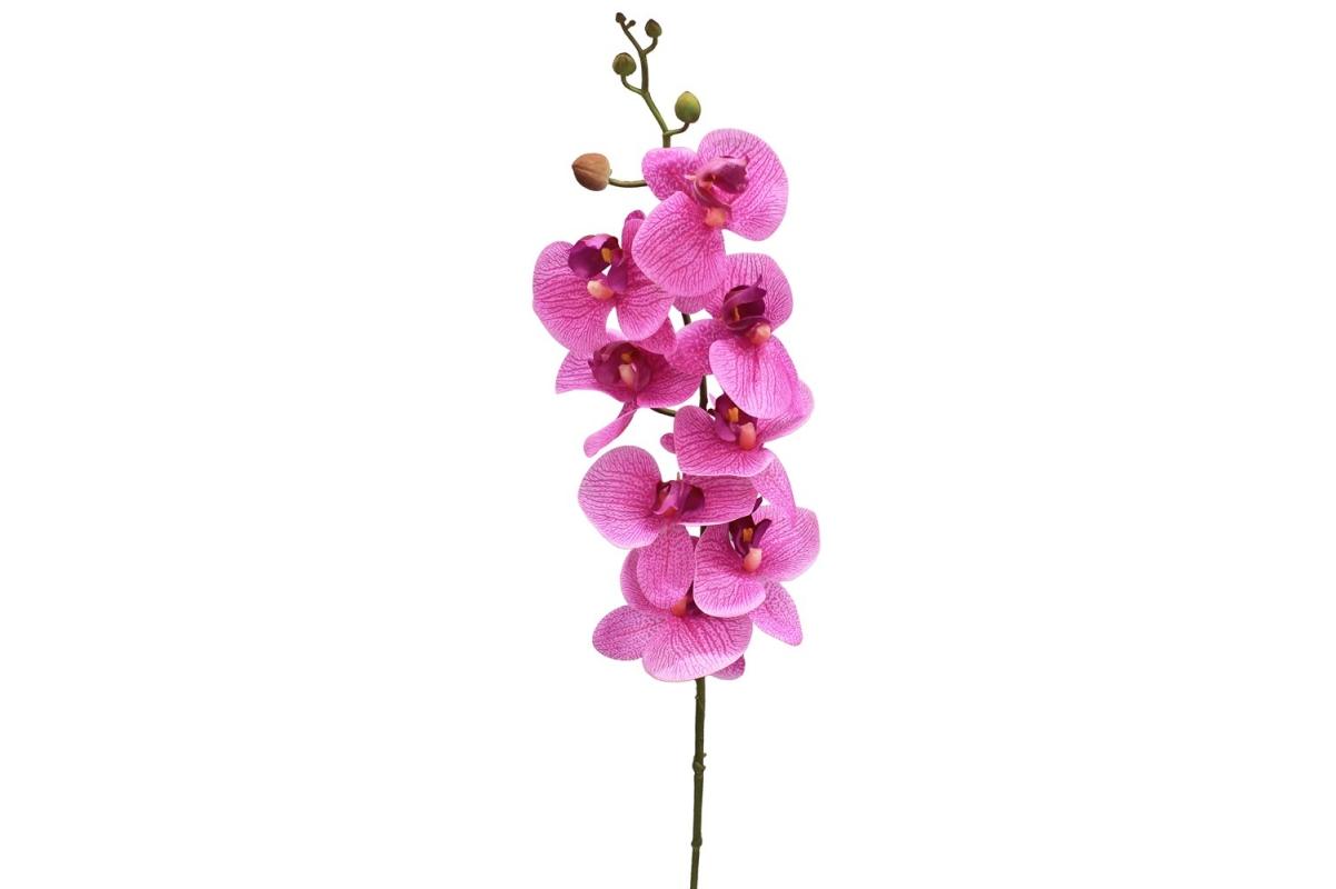 Орхидея Фаленопсис искусственная сиреневый 88 см (real touch)