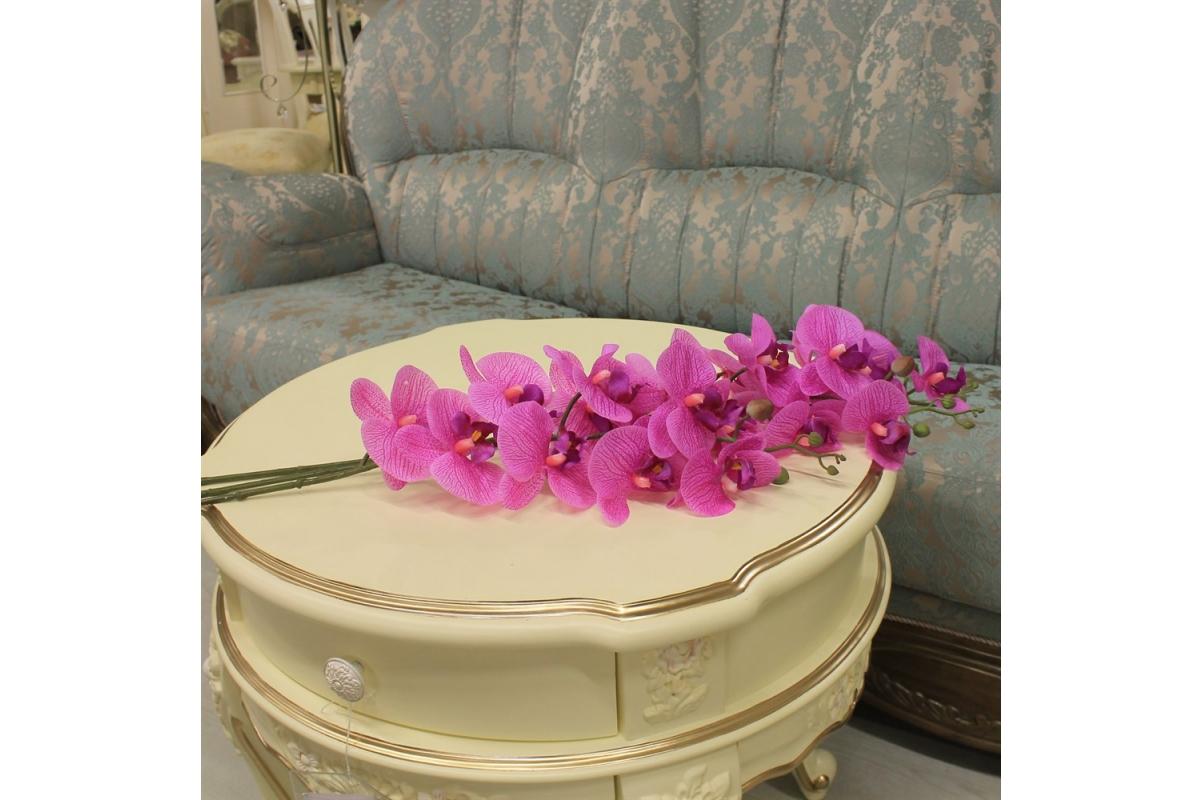 Орхидея Фаленопсис искусственная сиреневый 88 см (real touch) - Фото 2