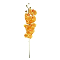 Орхидея Фаленопсис искусственная желтая 90 см (real touch)