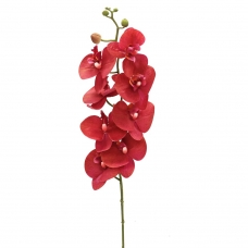 Орхидея Фаленопсис искусственная красная 88 см (real touch)