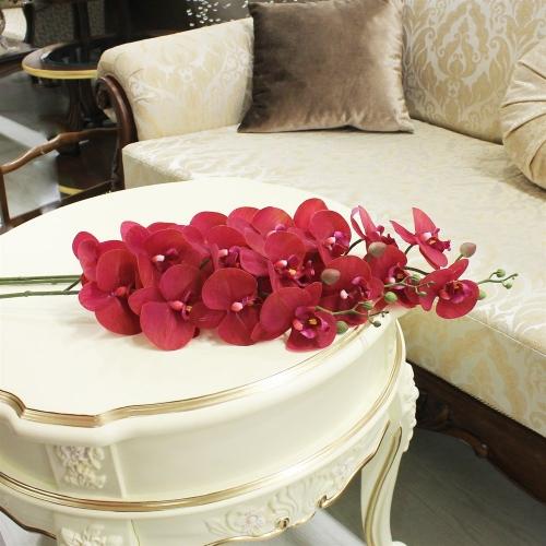 Орхидея Фаленопсис искусственная красная 88 см (real touch) - Фото 2