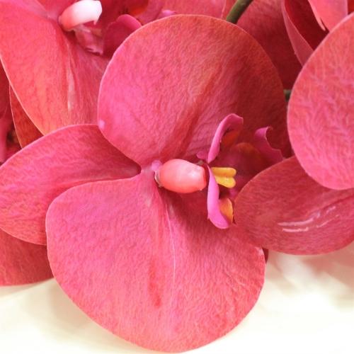 Орхидея Фаленопсис искусственная красная 88 см (real touch) - Фото 3