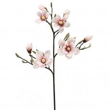 Магнолия ветка искусственная бело-розовая 115 см (real touch)