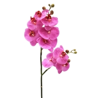 Орхидея Фаленопсис искусственная сиреневая 85 см (real touch)