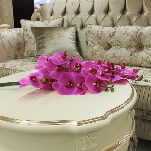 Орхидея Фаленопсис искусственная сиреневая 72 см (real touch) - Фото 2