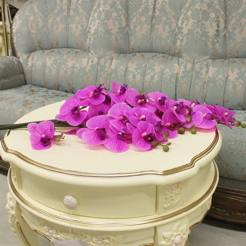Орхидея Фаленопсис искусственная сиреневый 72 см (real touch) - Фото 2