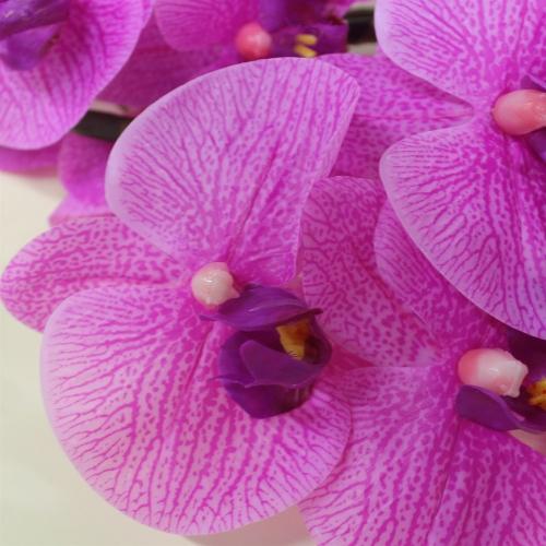 Орхидея Фаленопсис искусственная сиреневый 72 см (real touch) - Фото 3