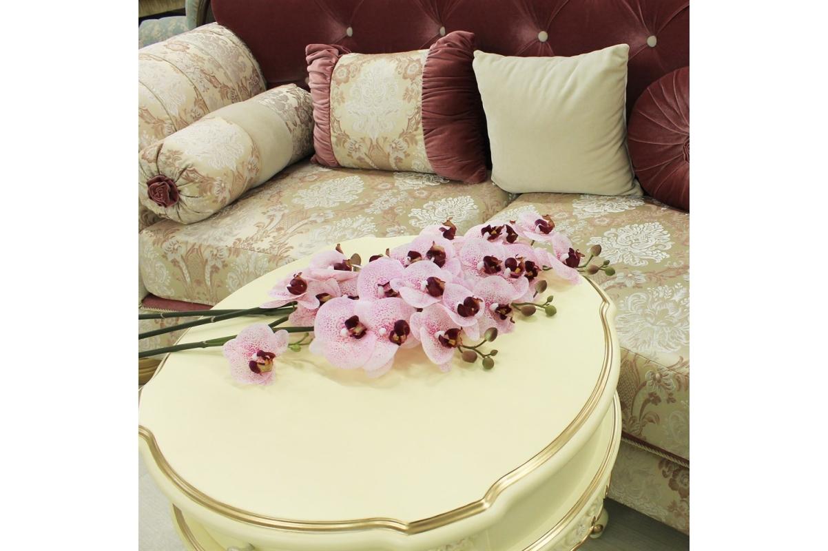 Орхидея Фаленопсис искусственная бело-розовая 72 см (real touch) - Фото 2