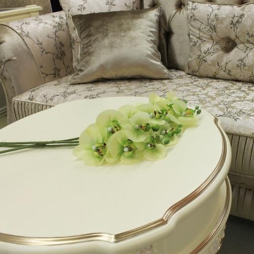 Орхидея Фаленопсис искусственная зеленая 65 см (real touch) - Фото 2