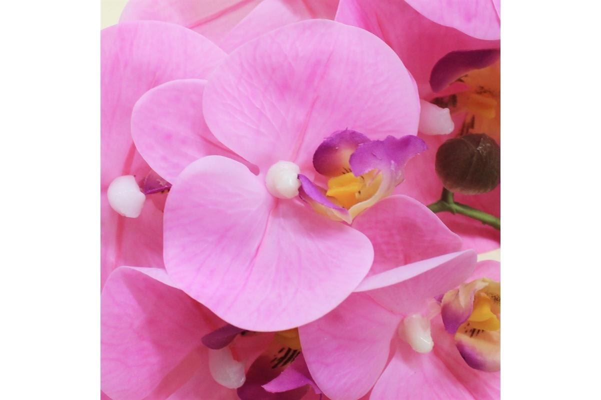 Орхидея Фаленопсис искусственная светло-розовая 65 см (real touch) - Фото 3