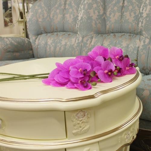 Орхидея Фаленопсис искусственная фиолетовая 65 см (real touch) - Фото 2