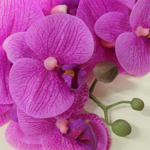 Орхидея Фаленопсис искусственная фиолетовая 65 см (real touch) - Фото 3