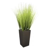 Трава искусственная высокая светло-зеленая в высоком кашпо 120 см