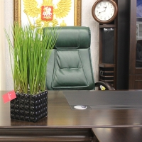 Трава искусственная в керамическом кашпо квадрат 45 см