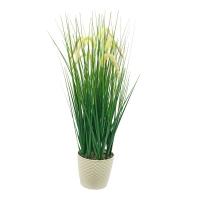 Трава султанка искусственная зеленая в малом кашпо 86 см