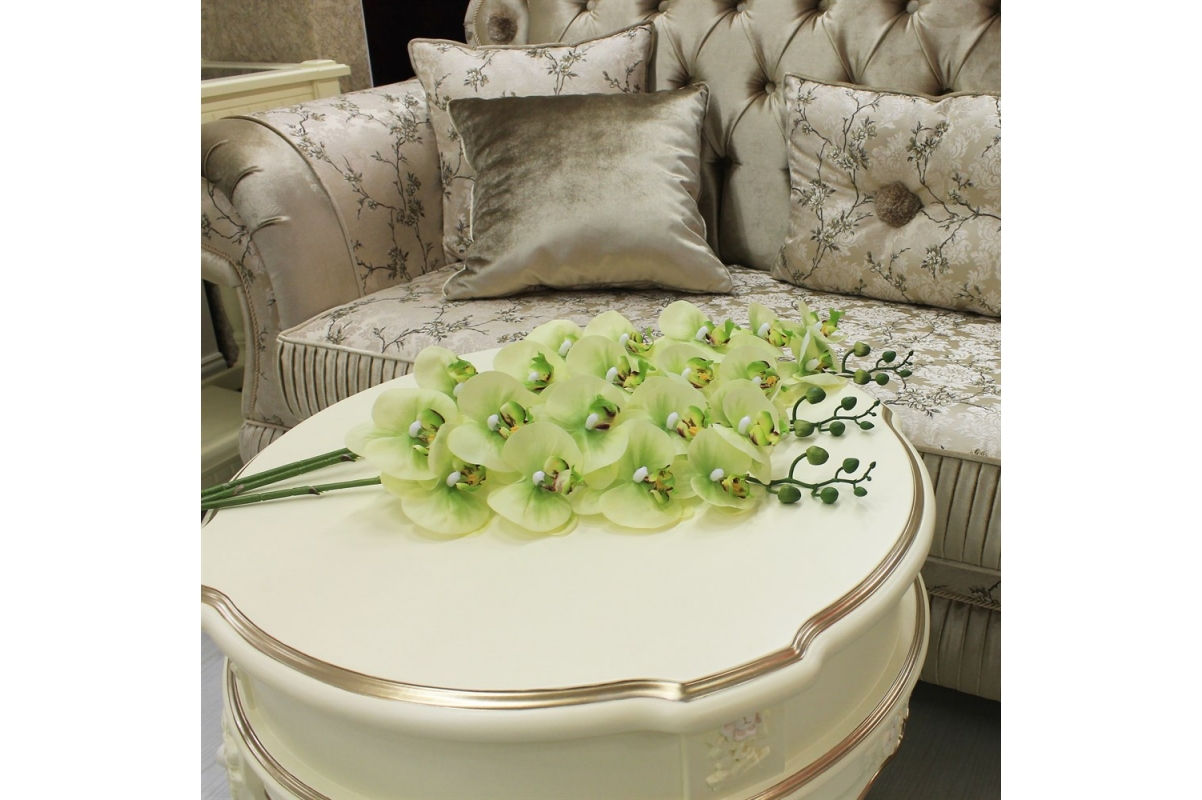 Орхидея Фаленопсис искусственная зеленая 90 см (real touch) - Фото 2