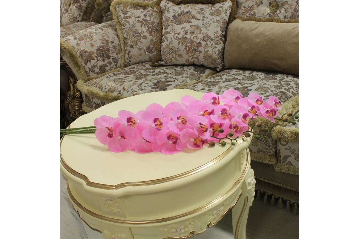 Орхидея Фаленопсис искусственная светло-розовая 90 см (real touch) - Фото 3