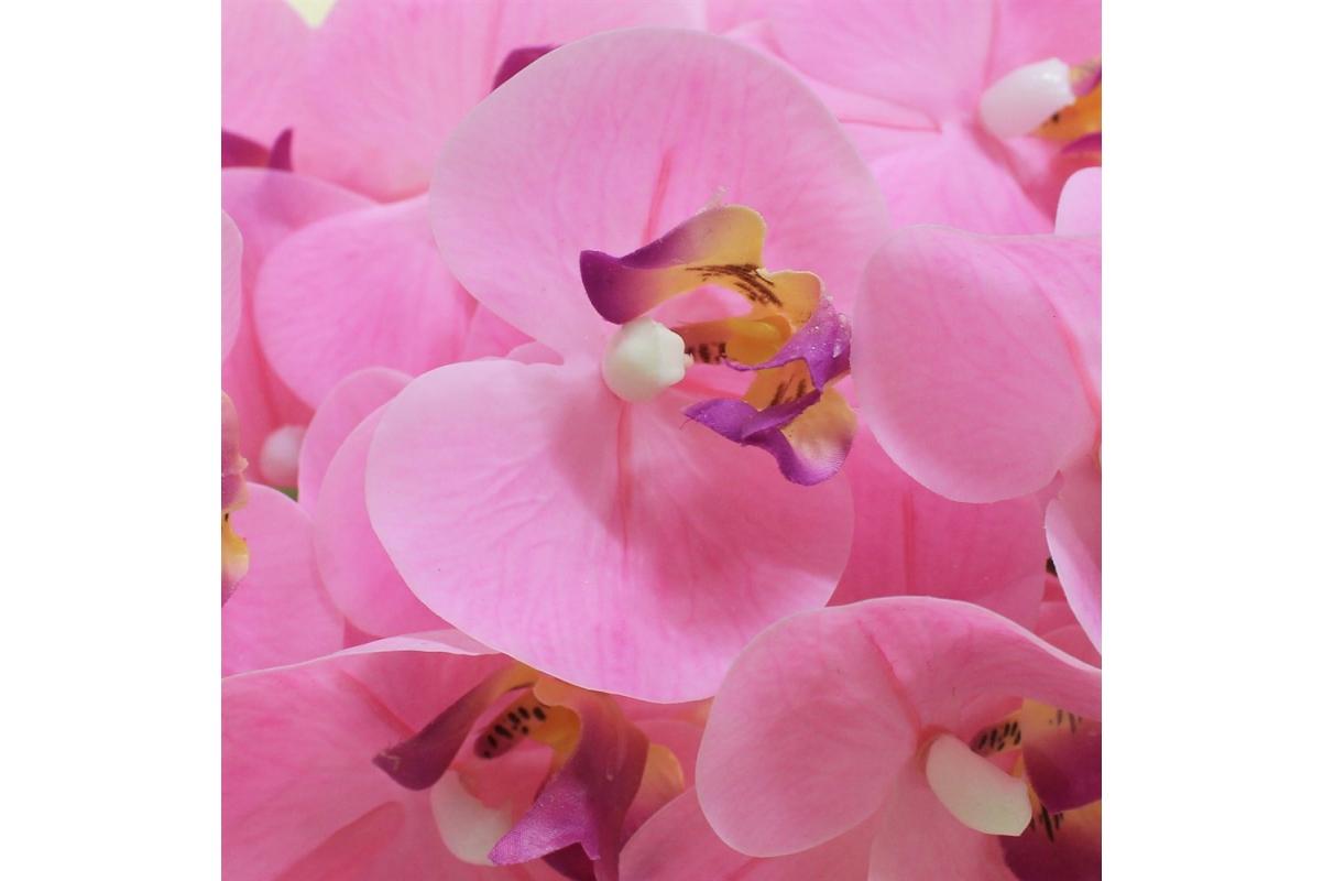 Орхидея Фаленопсис искусственная светло-розовая 90 см (real touch) - Фото 2