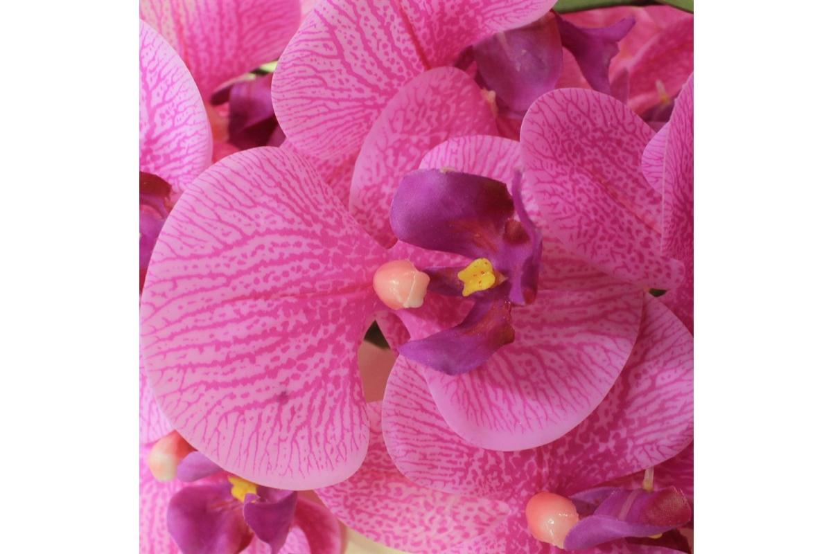 Орхидея Фаленопсис искусственная сиреневый 90 см (real touch) - Фото 3