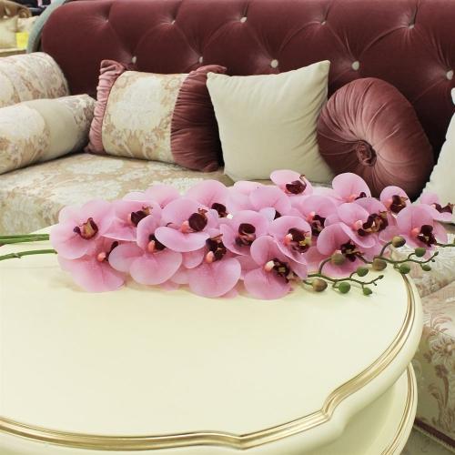 Орхидея Фаленопсис искусственная розовая 90 см (real touch) - Фото 2