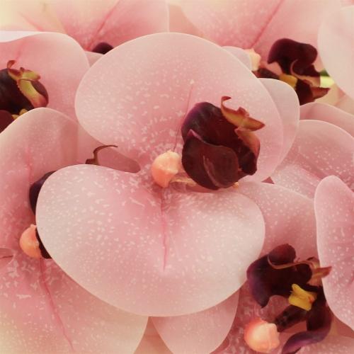 Орхидея Фаленопсис искусственная розовая 90 см (real touch) - Фото 3