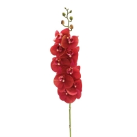 Орхидея Фаленопсис искусственная красный 90 см (real touch)
